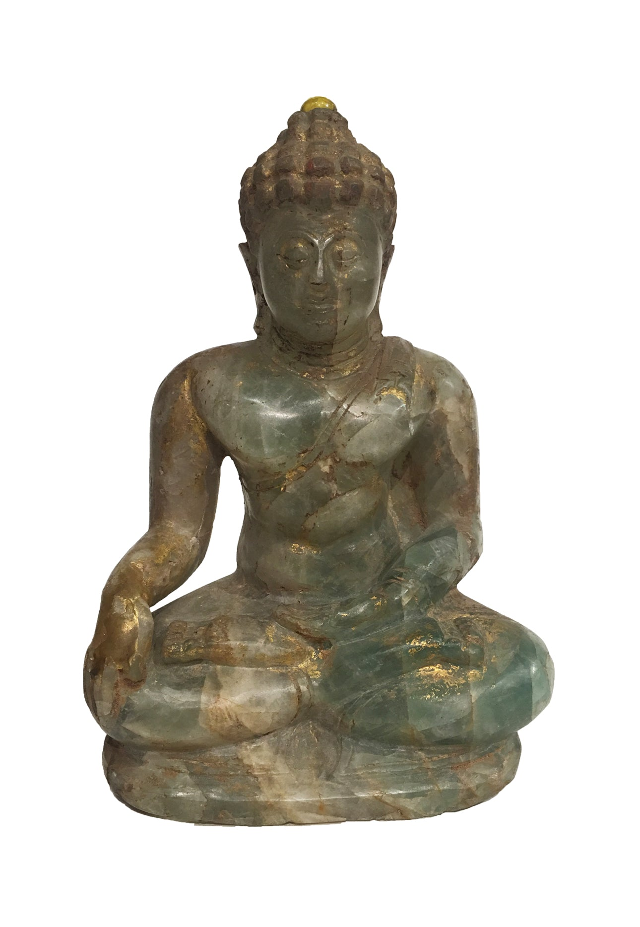 Antique Green Jade Buddha - Tibet Arts & Healing
