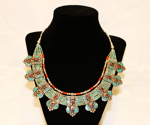 Beautiful Turquoise Coral Necklace - Tibet Arts & Healing