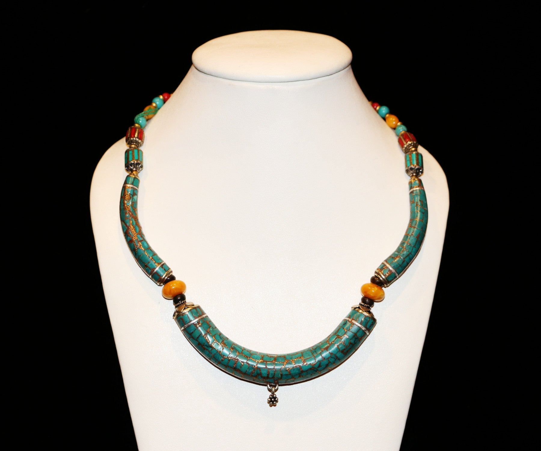 Beautiful Turquoise Necklace - Tibet Arts & Healing