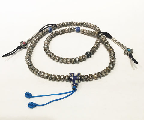 Compassion Mala Fresh Water Pearl & Lapis