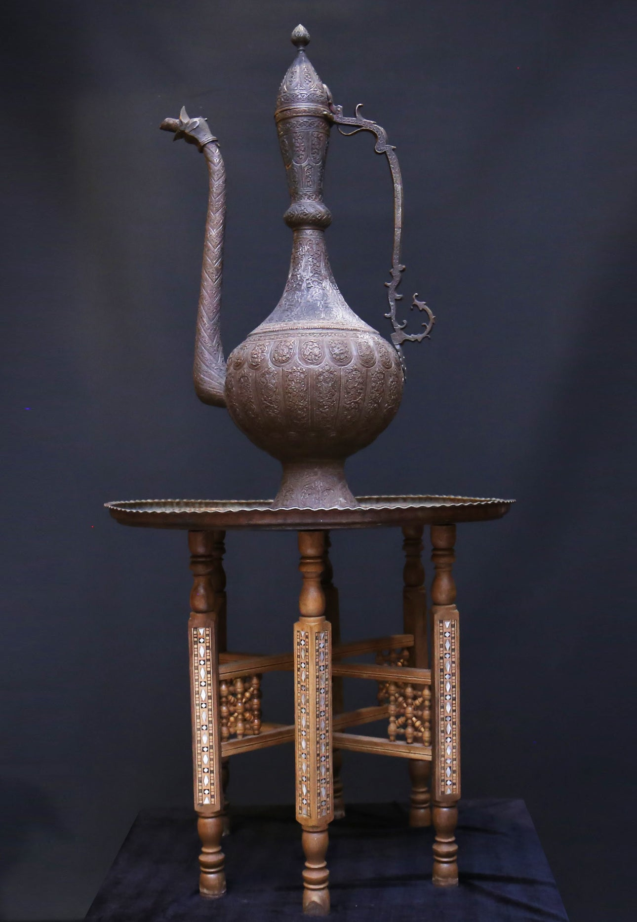 Copper Dallah Islamic Coffee Pot - Tibet Arts & Healing
