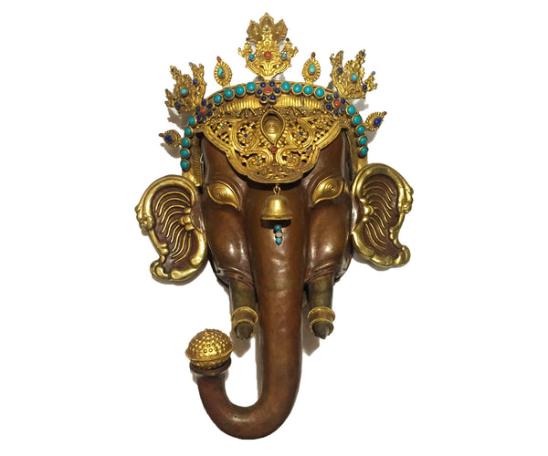 Ganesha Gold Gilded Wall hanging - Tibet Arts & Healing