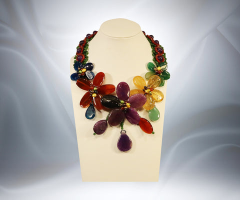 Gemstone Flower Necklace - Tibet Arts & Healing