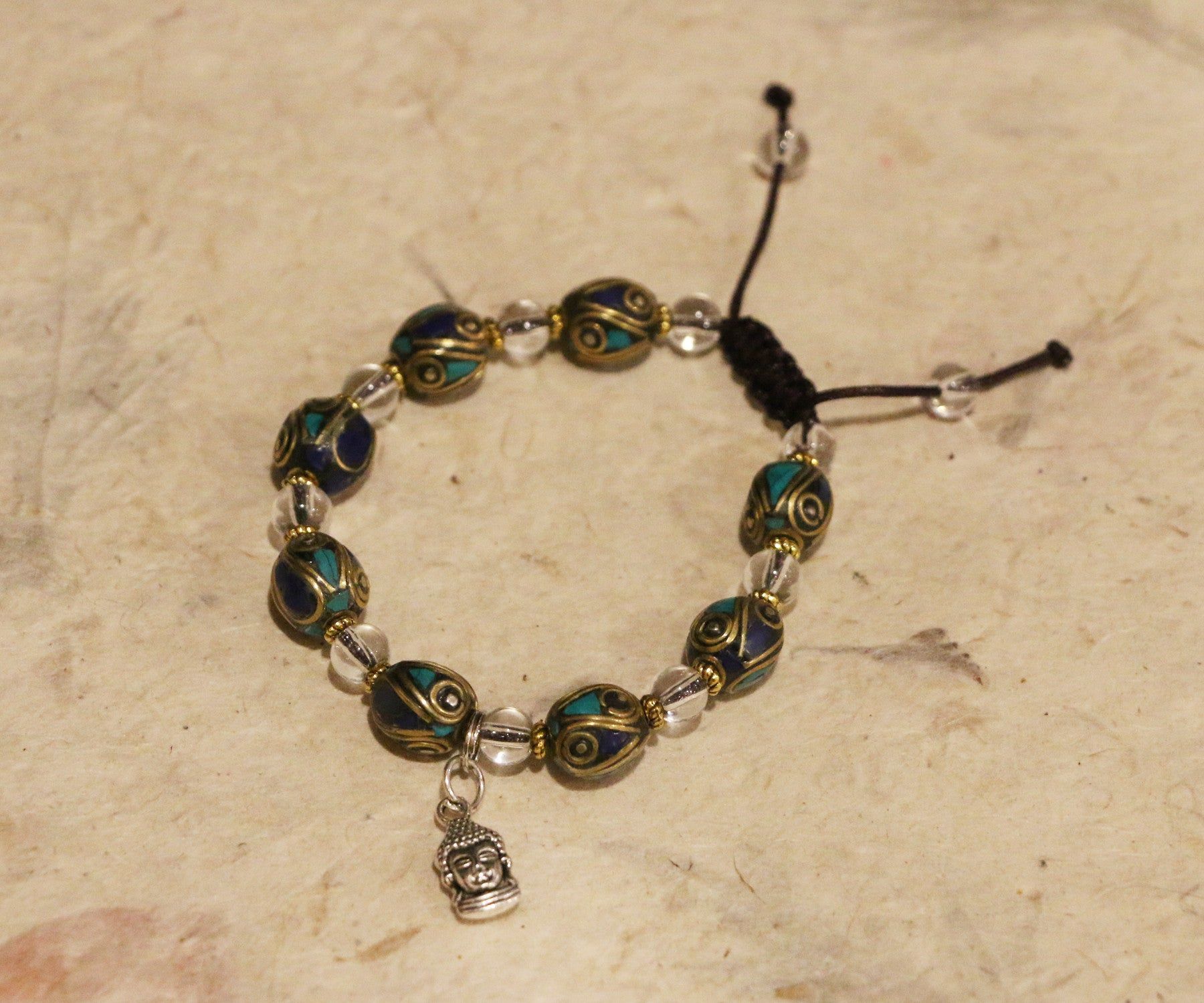 Lapis Turquoise with Buddha charm - Tibet Arts & Healing