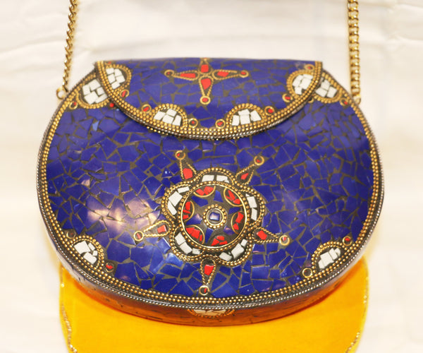Lapis tribal bag - Tibet Arts & Healing