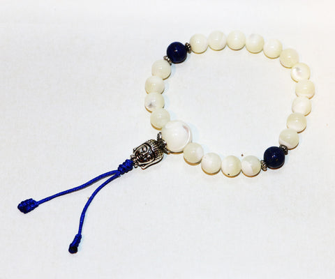 Mother of Pearl Wrist Mala - Tibet Arts & Healing