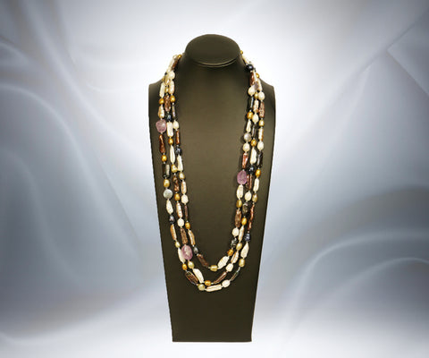 Multi Colored Mother of Pearl Necklace - Tibet Arts & Healing