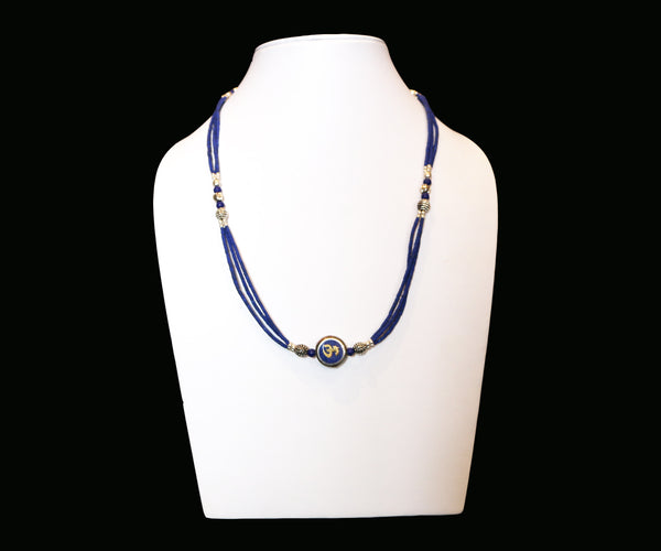 Om Lapis Necklace - Tibet Arts & Healing