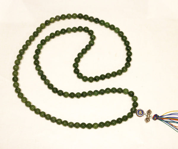 Special Green Jade Necklace Mala - Tibet Arts & Healing