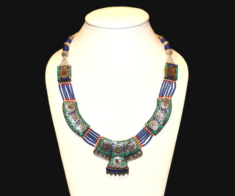 Beautiful Turquoise Lapis Necklace - Tibet Arts & Healing