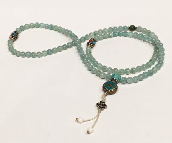Aquamarine Necklace Mala - Tibet Arts & Healing