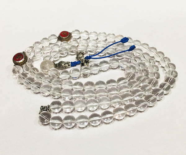 Clear Quartz Necklace Mala - Tibet Arts & Healing