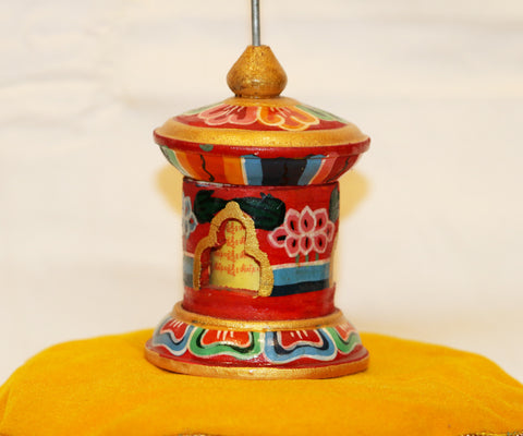 Table top prayer wheel - Tibet Arts & Healing