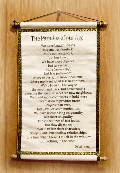 The Paradox of our Age - Tibet Arts & Healing