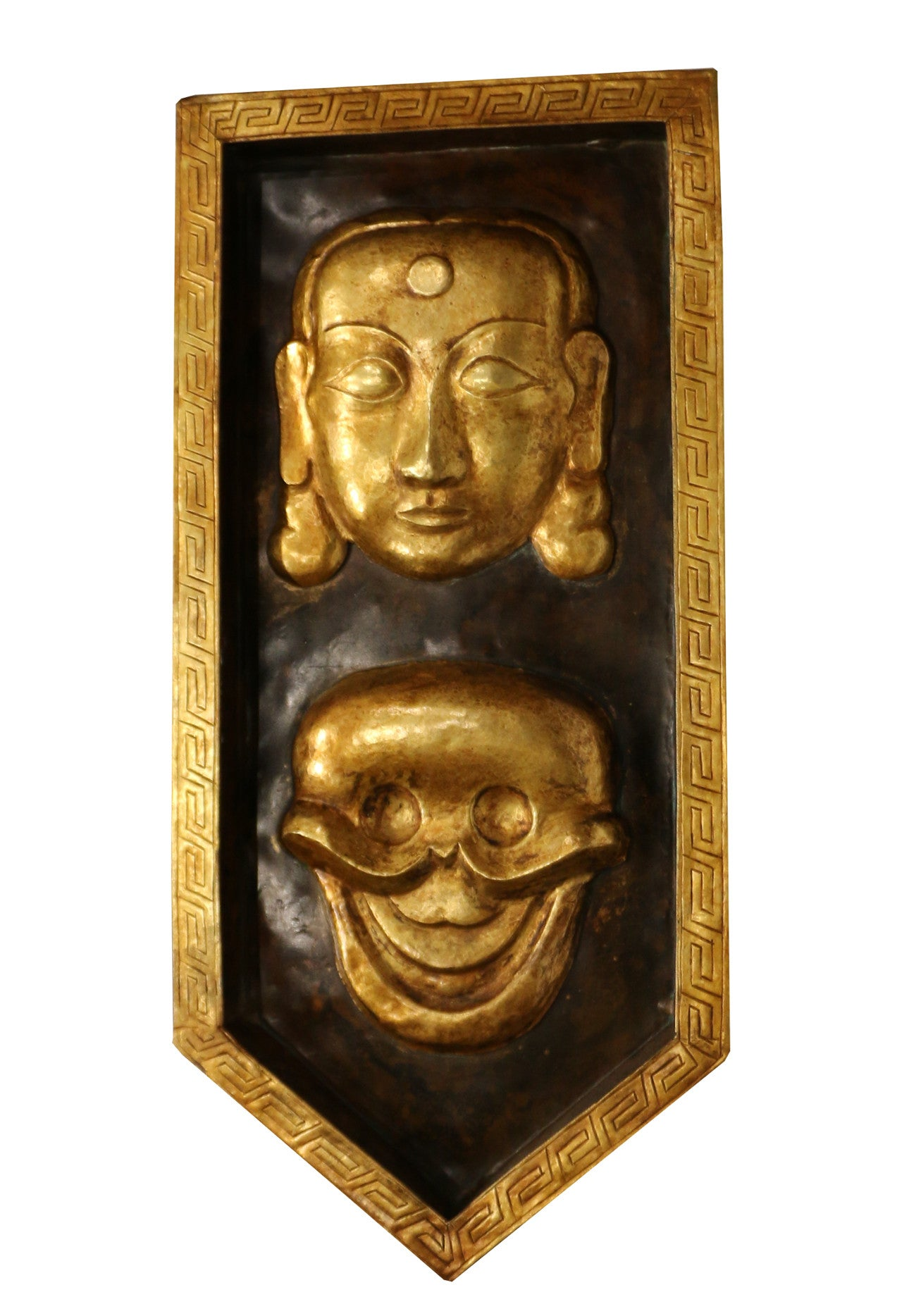 Tibetan Mask Wall decor gold gilded - Tibet Arts & Healing