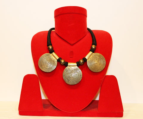 Tribal medallion Necklace-2