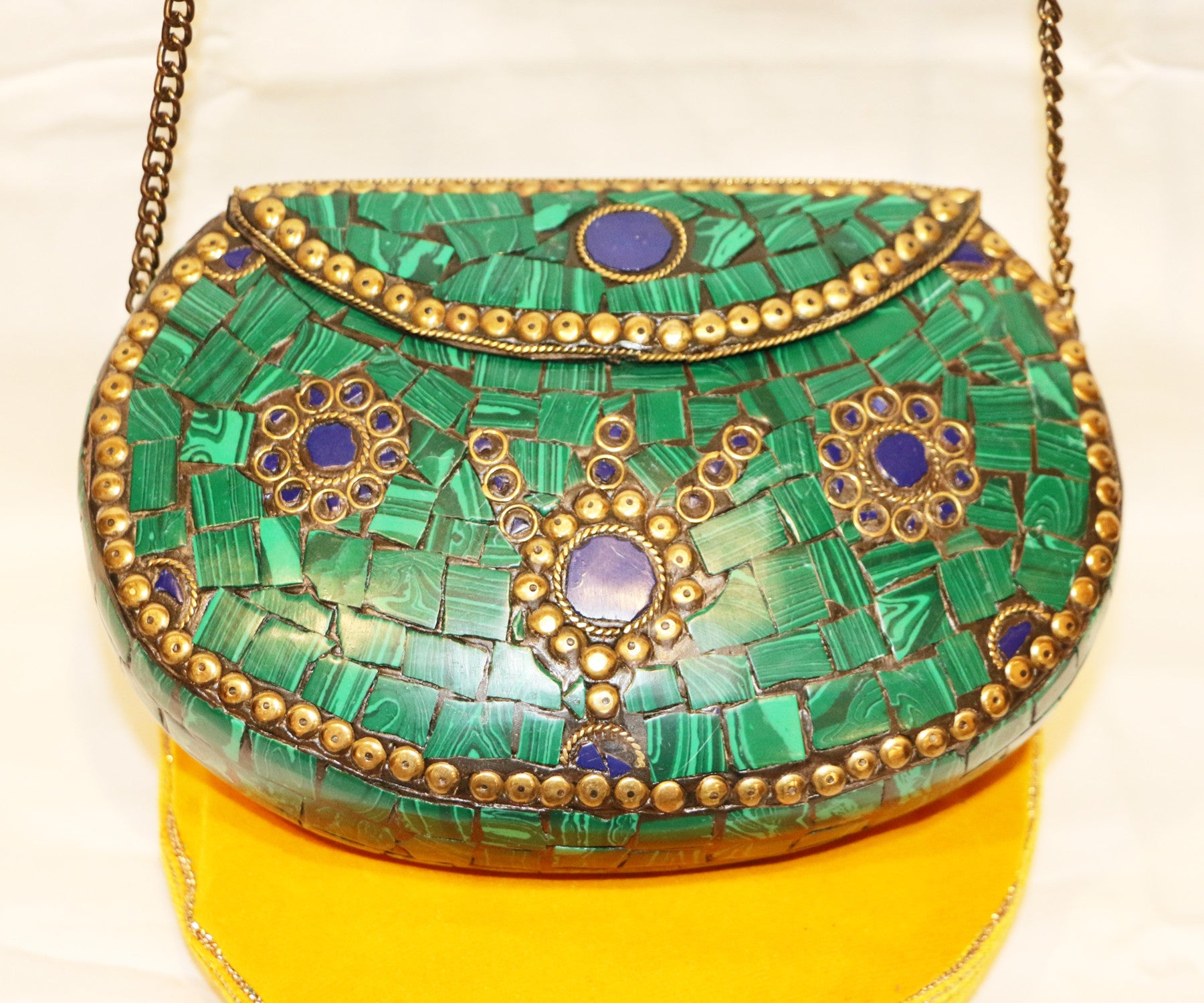 Turquoise tribal bag - Tibet Arts & Healing