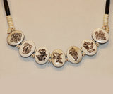 Yak Bone 5 Powerful Animal Necklace - Tibet Arts & Healing