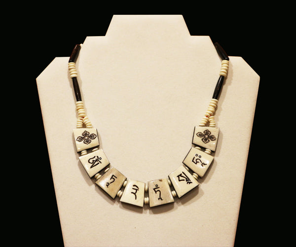 Yak Bone Green Tara Necklace - Tibet Arts & Healing