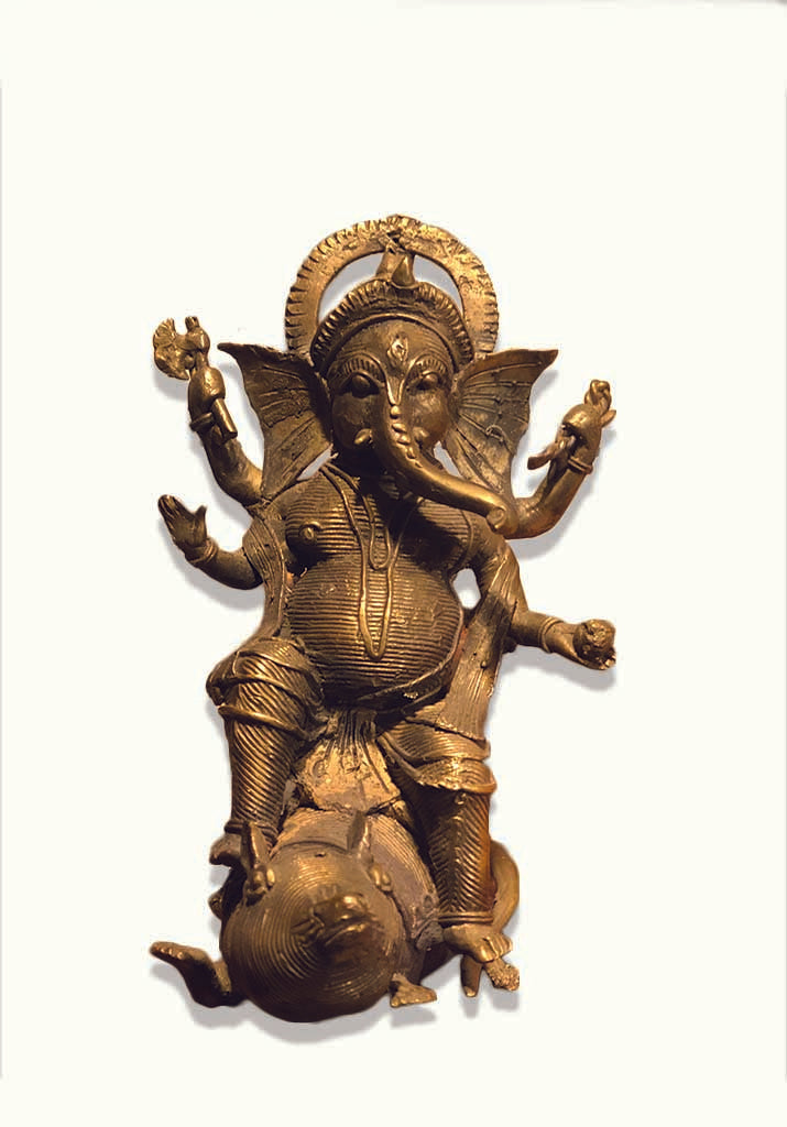GANESH ON MOUSE ( ANTIQUE)