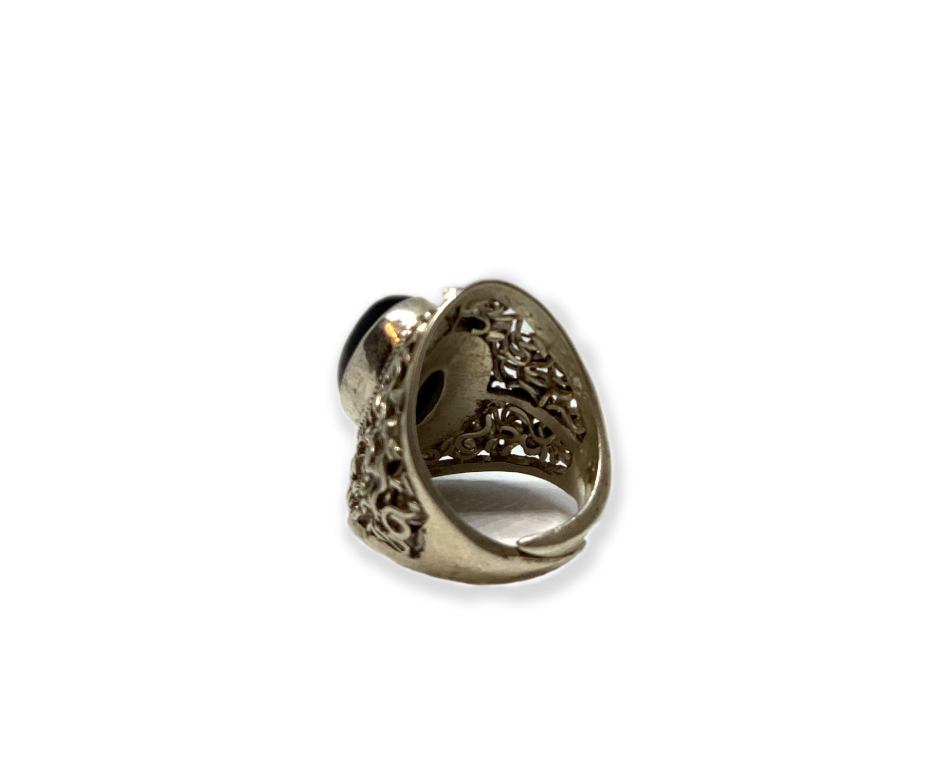 BLACK ONYX STERLING RING