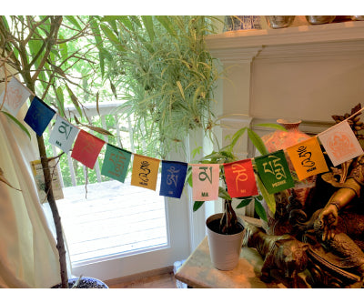 MINI AVALOKITESHVARA PRAYER FLAG