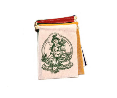 MINI GREEN TARA PRAYER FLAG