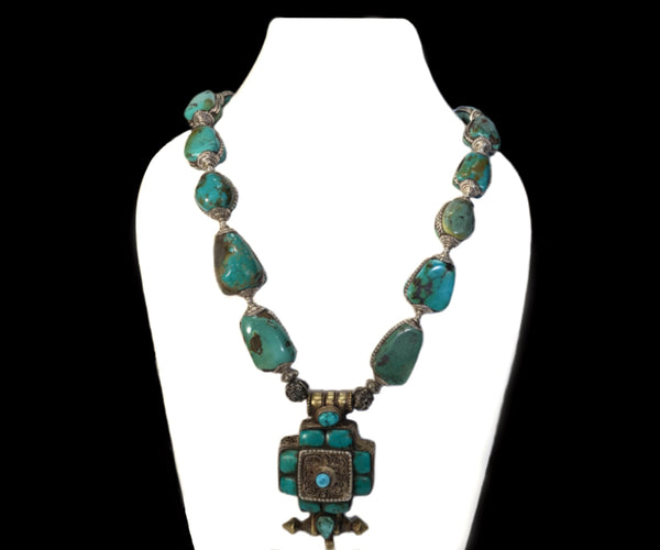 Old Tibetan Turquoise Necklace