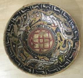 Antique Islamic medieval ceramic bowl