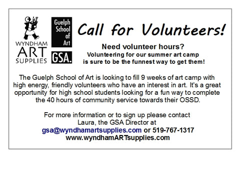 Call for Volunteers: Summer Camp