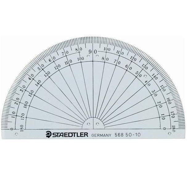 "STAEDTLER Protractor 180/ 4"" - Wyndham Art Supplies"