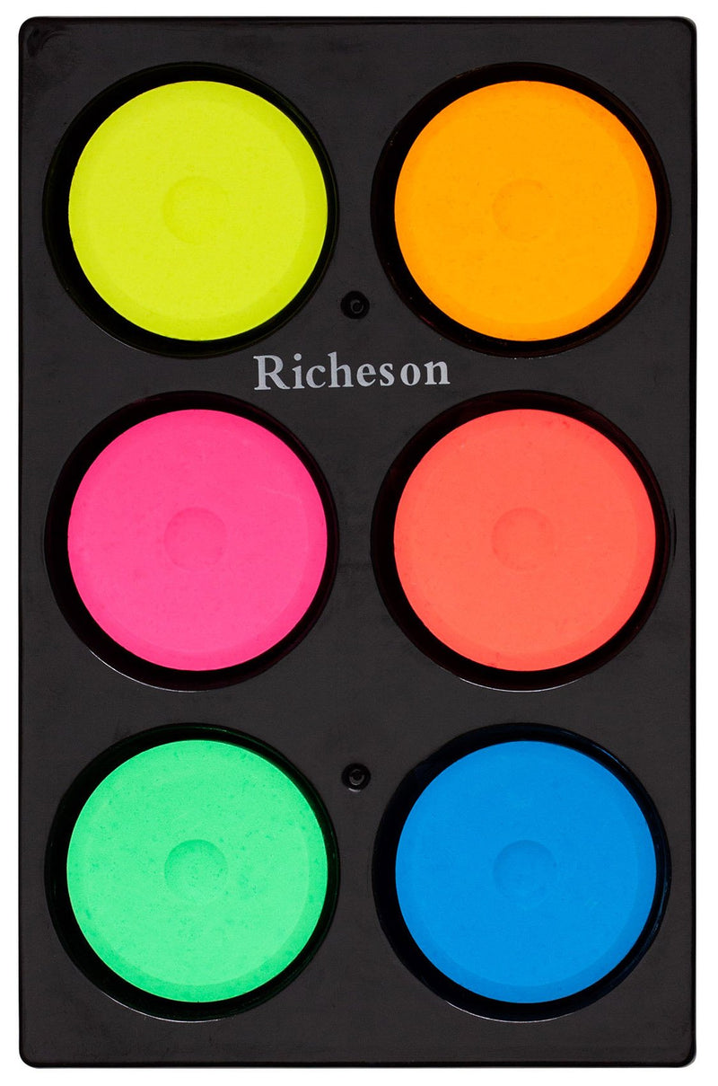 Tempera Pucks Fluorescent 6 set