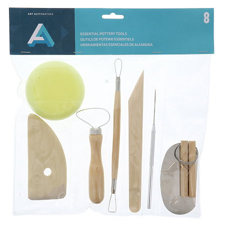 Essential Pottery tools 8pk