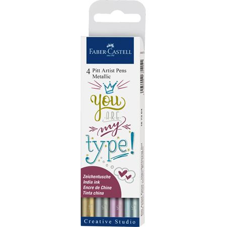 Pitt Pen Set x 4 Metallic - Wyndham Art Supplies