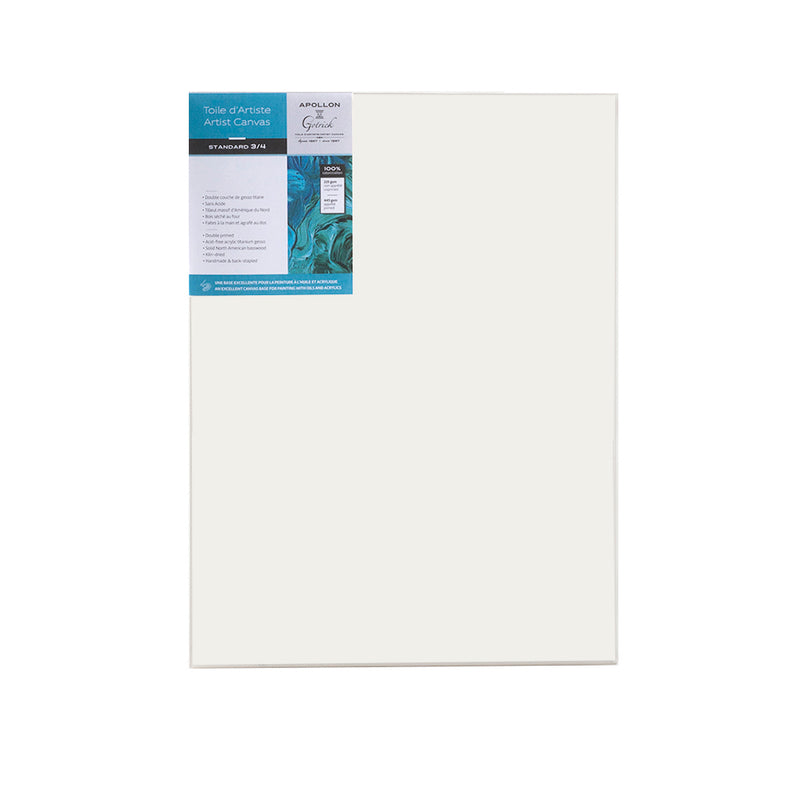 Economy Standard Stretched Canvas - 12x16 - Wyndham Art Supplies