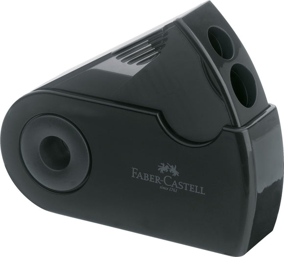 Faber Castell Sleeve Twin Sharpener Black - Wyndham Art Supplies
