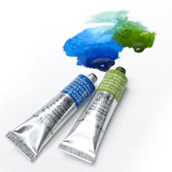 Winsor Newton WC: Blue & Green