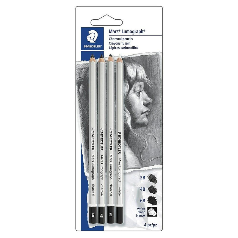 Staedtler Charcoal 4 Pencil Set