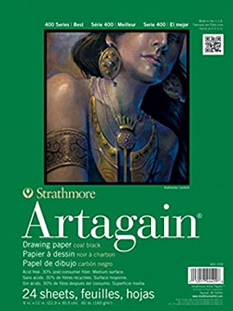 Strathmore Artagain Black Pads - Wyndham Art Supplies