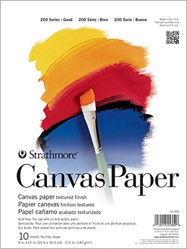 Canvas Paper Pad 9x12 - Wyndham Art Supplies