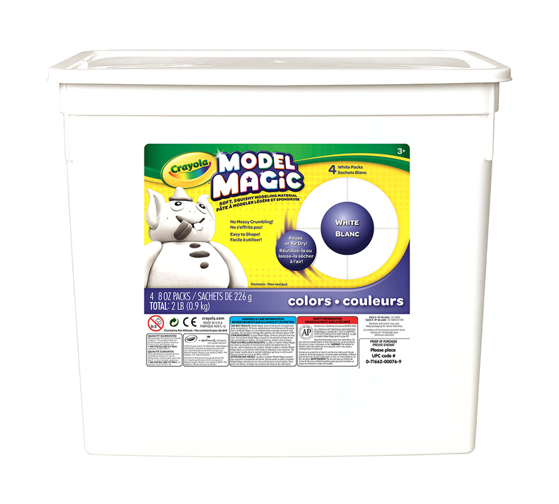 Crayola Model Magic 2 lb. Resealable Bucket - White - Wyndham Art Supplies