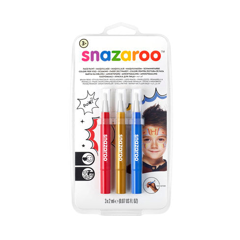 Snazaroo 3pc Brush Pens - Wyndham Art Supplies