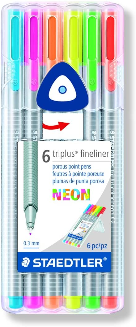 Staedtler Triplus Neon Fineliner Set (6) - Wyndham Art Supplies