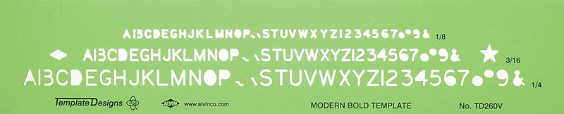 Template Modern Bold Font - Wyndham Art Supplies