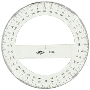 "Alvin 6"" Circular Protractor - Wyndham Art Supplies"