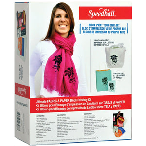 Speedball Ultimate Fabric & Paper Block Printing Kit - Wyndham Art Supplies