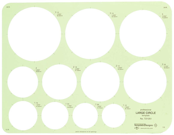 Alvin Template Large Circle - Wyndham Art Supplies