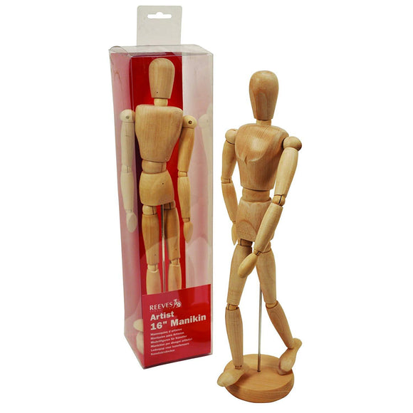 16-inch Wooden Artists Manikin - Wyndham Art Supplies