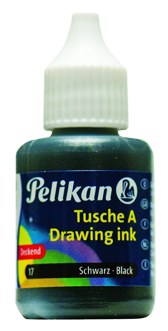 Pelikan Drawing Ink Black 30ml - Wyndham Art Supplies