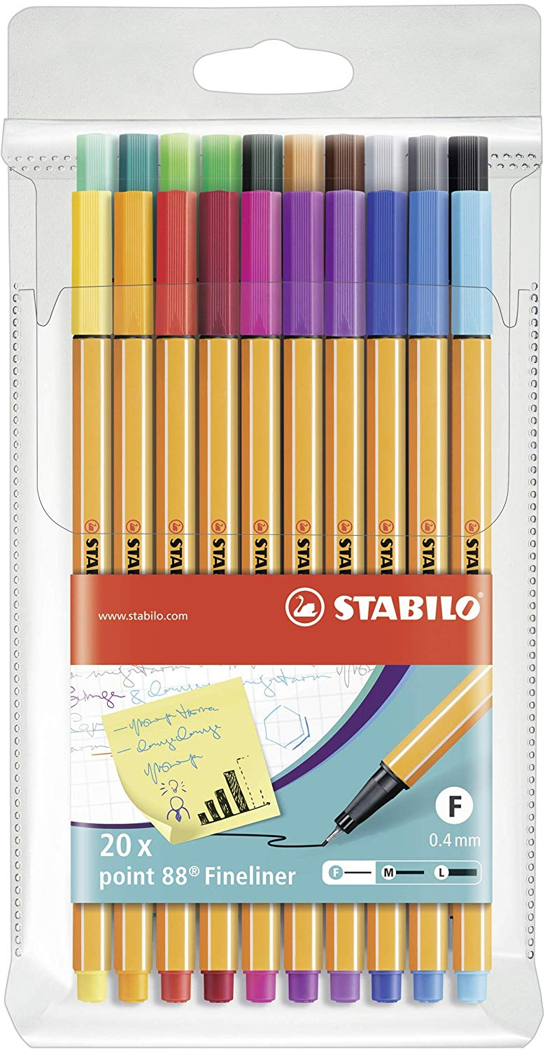 Stabilo Point 88 Fineliner Set - Wyndham Art Supplies